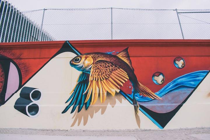 Graffiti på en vägg